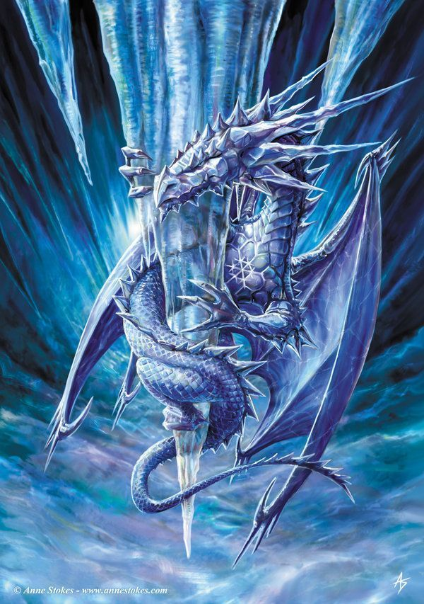 Anne Stokes Ice Dragon Image cr e par Anne Stokes